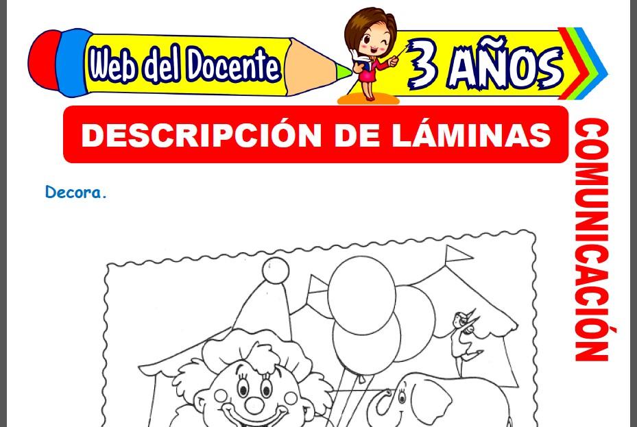 Descripción de Láminas para Niños de 3 Años