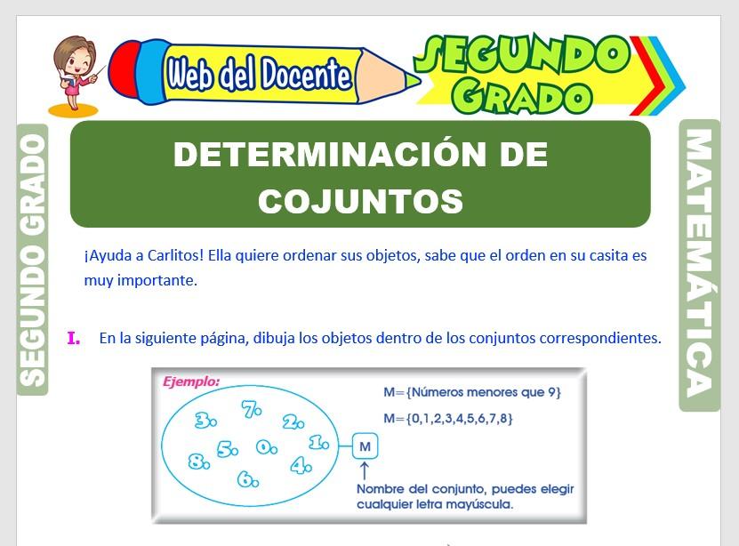 Ficha de Determinación de Conjuntos para Segundo Grado de Primaria