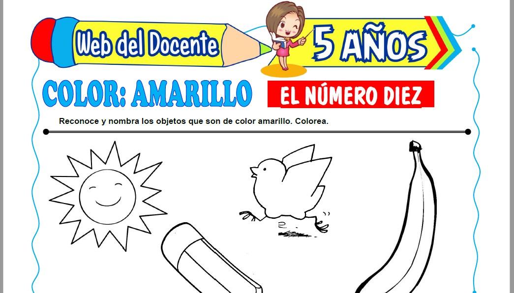 Muestra de la Ficha de Dibujos para Colorear para Niños de 5 Años