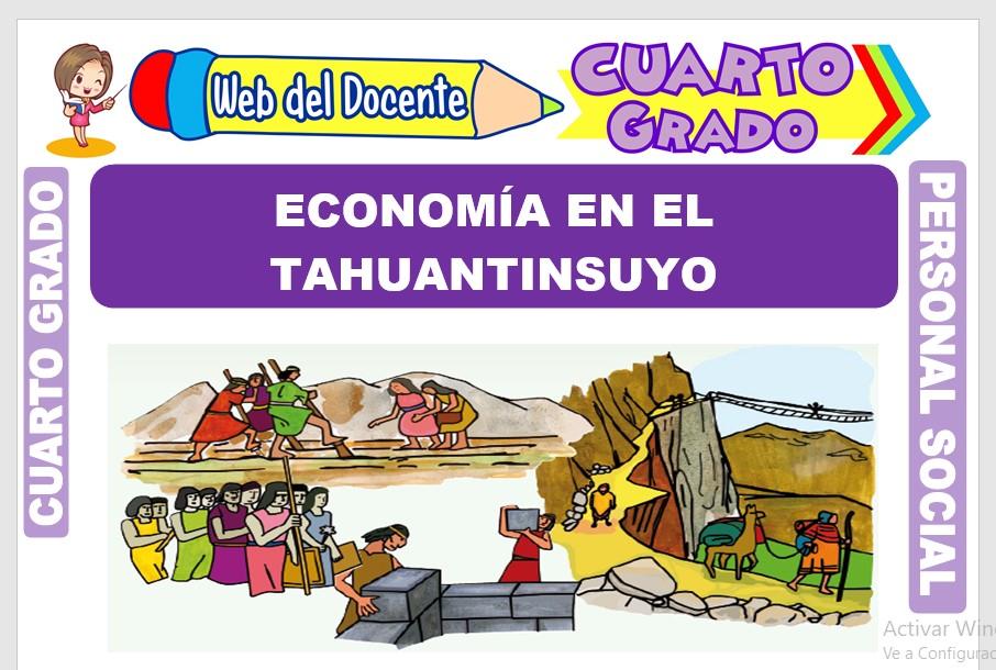 Ficha de Economía en el Tahuantinsuyo para Cuarto Grado de Primaria
