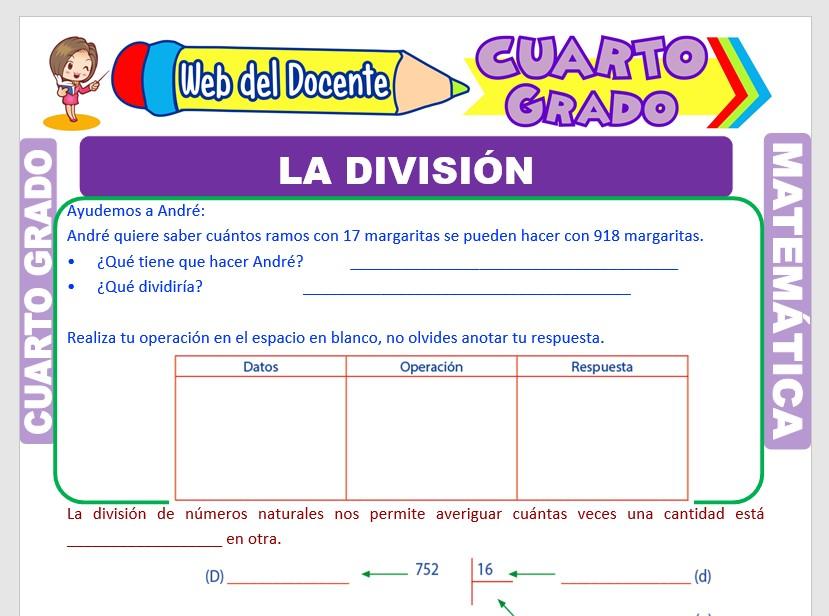 Ejercicios De Division Para Cuarto Grado De Primaria Web Del Docente