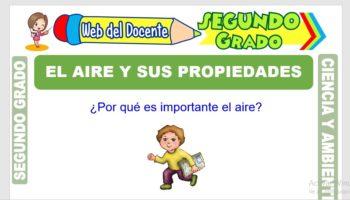 Ficha de El Aire y sus Propiedades para Segundo Grado de Primaria