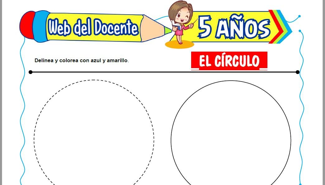 Muestra de la Ficha de El Círculo para Niños de 5 Años