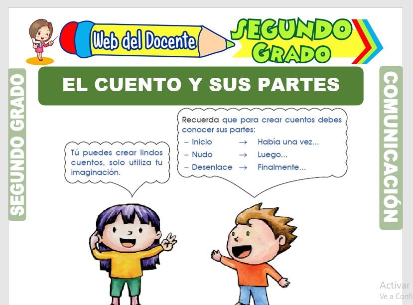 Ficha de El Cuento y sus Partes para Segundo Grado de Primaria