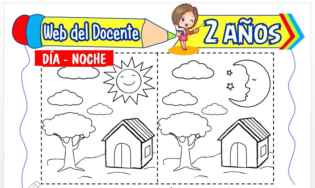 Ficha de El Día y la Noche para Niños de 2 Años