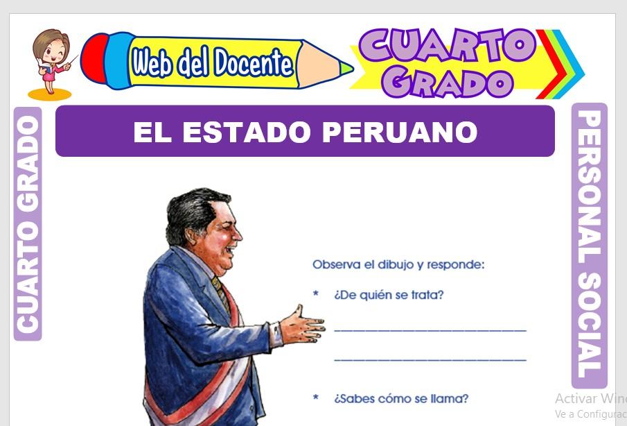 Ficha de El Estado Peruano para Cuarto Grado de Primaria