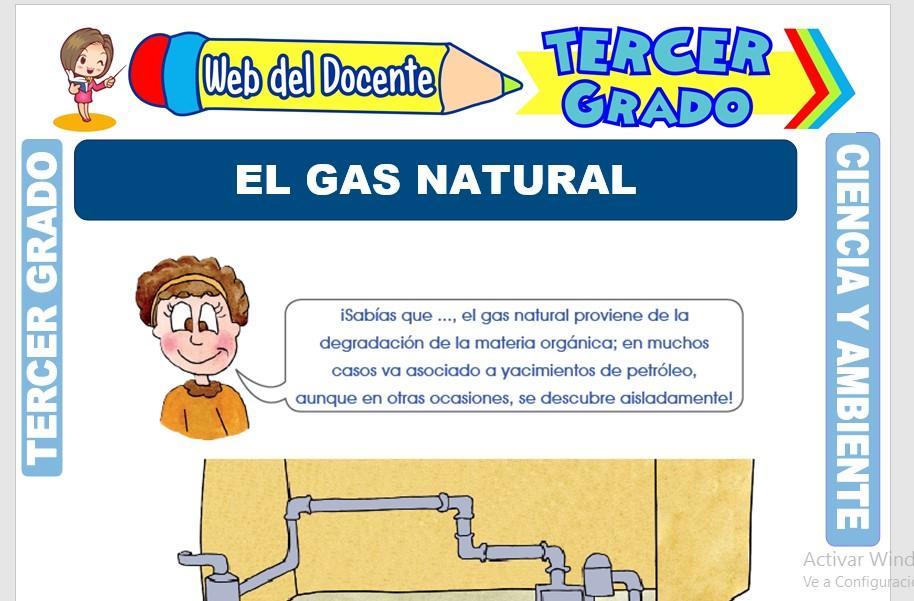 Ficha de El Gas Natural para Tercer Grado de Primaria