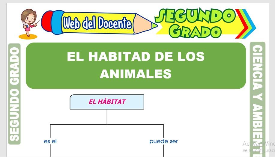 Ficha de El Hábitat de los Animales para Segundo Grado de Primaria