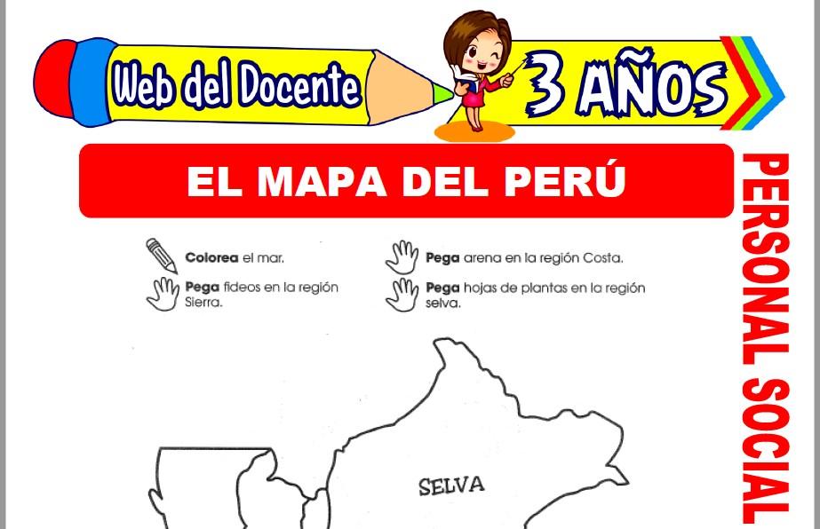 Muestra de la Ficha de El Mapa del Perú para Niños de 3 Años