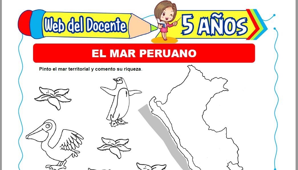 Muestra de la Ficha de El Mar Peruano para Niños de 5 Años