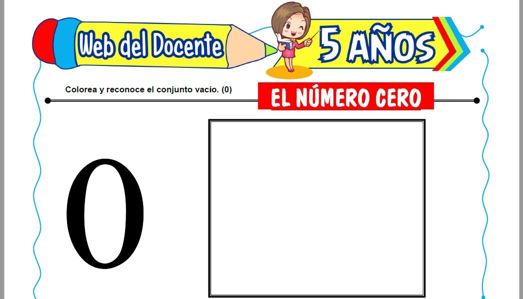 Muestra de la Ficha de El Número Cero para Niños de 5 Años