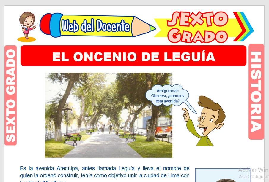 Ficha de El Oncenio de Leguía para Sexto Grado de Primaria