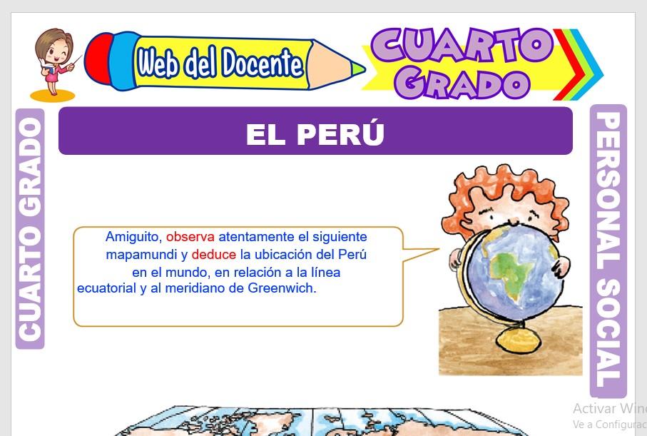 Ficha de El Perú para Cuarto Grado de Primaria