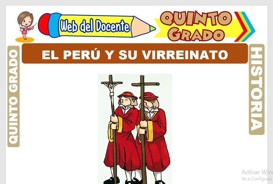 Ficha de El Perú y su Virreinato para Quinto Grado de Primaria
