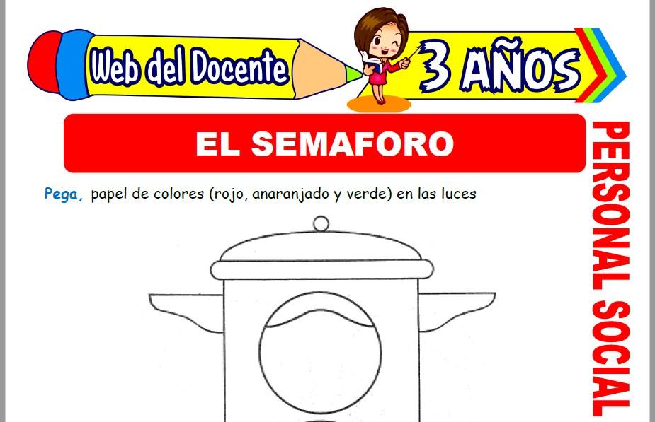 Muestra de la Ficha de El Semaforo para Niños de 3 Años
