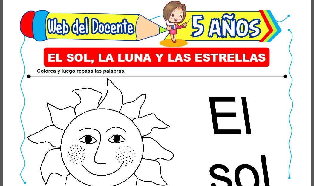 El Sol, la Luna y las Estrellas para Niños de 5 Años