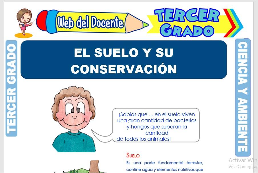 Ficha de El Suelo y su Conservación para Tercer Grado de Primaria