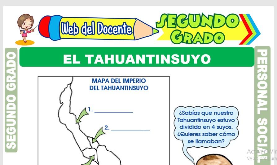 Ficha de El Tahuantinsuyo para Segundo Grado de Primaria