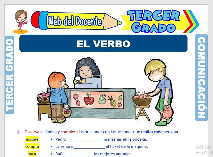 Muestra de la Ficha de El Verbo y los Tiempos Verbales