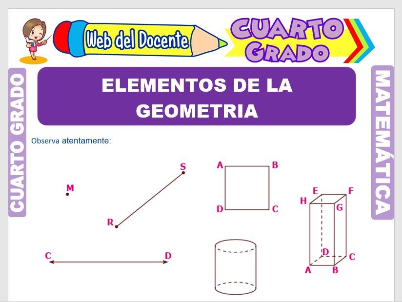 Ficha de Elementos de la Geometría para Cuarto Grado de Primaria