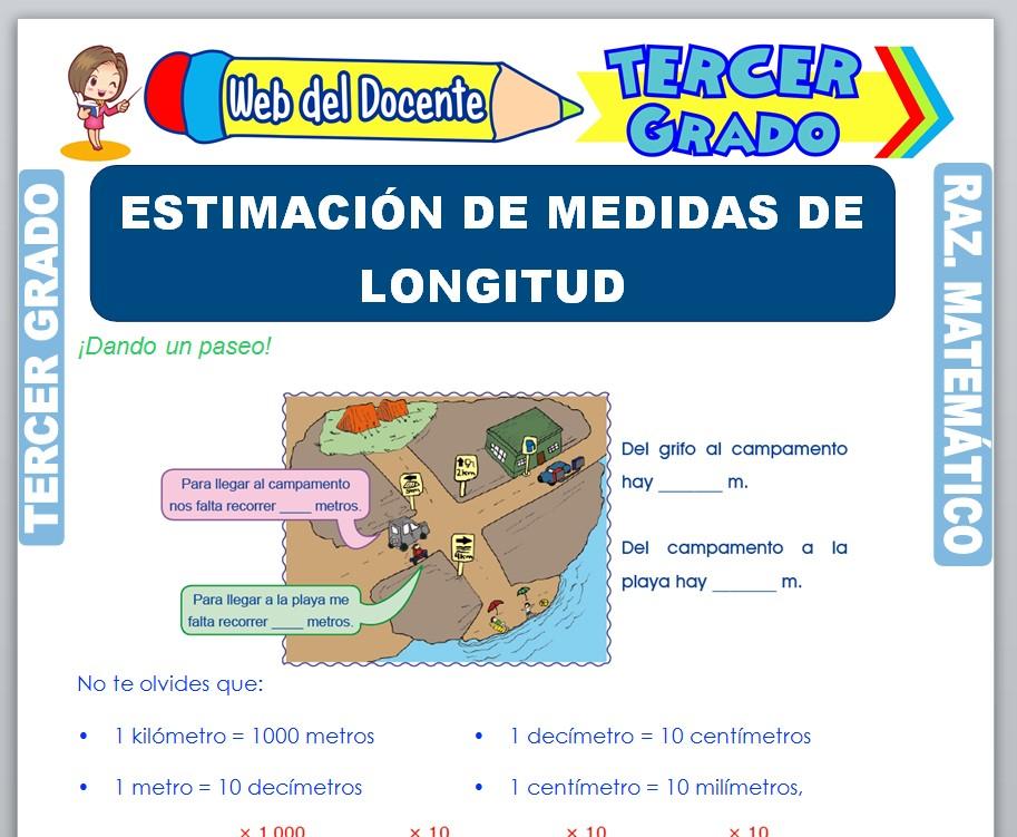 Ficha de Estimación de Medidas de Longitud para Tercer Grado de Primaria