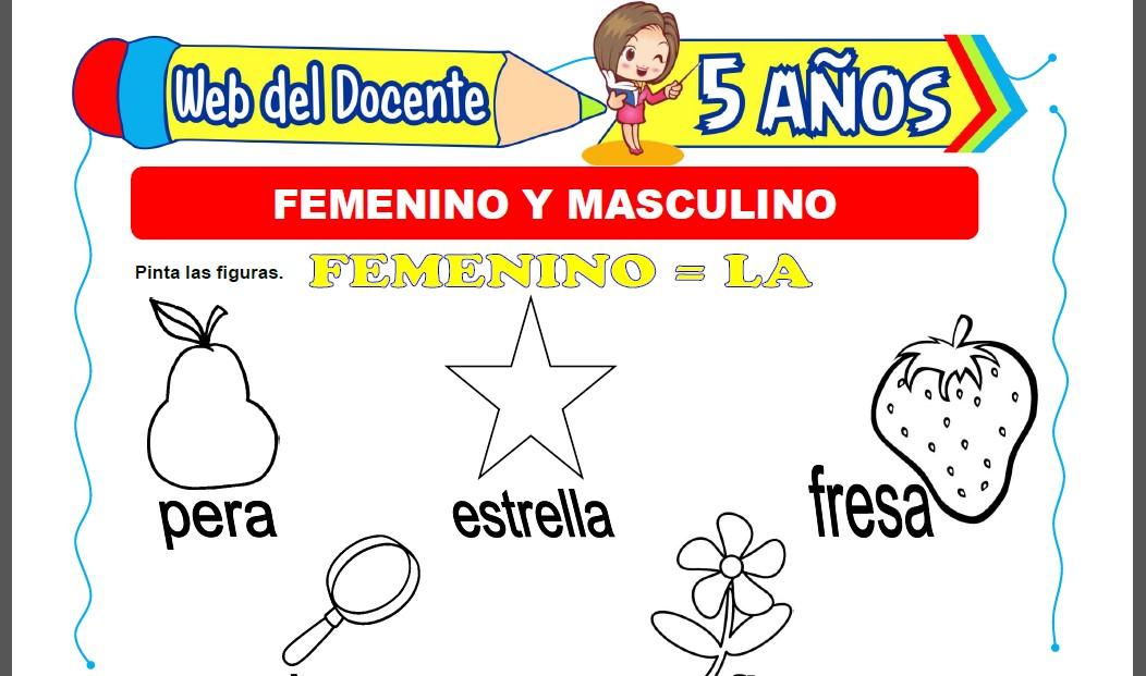 Femenino y Masculino para Niños de 5 Años