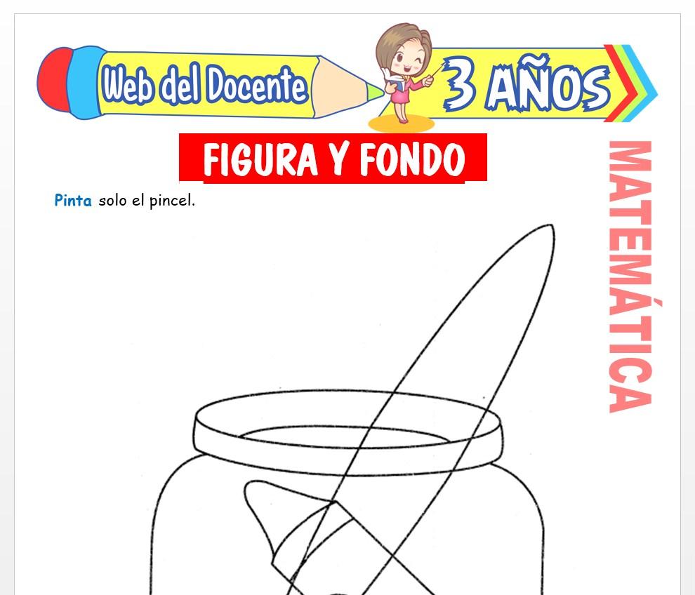 Ficha de Figura y Fondo para Niños de 3 AÑOS