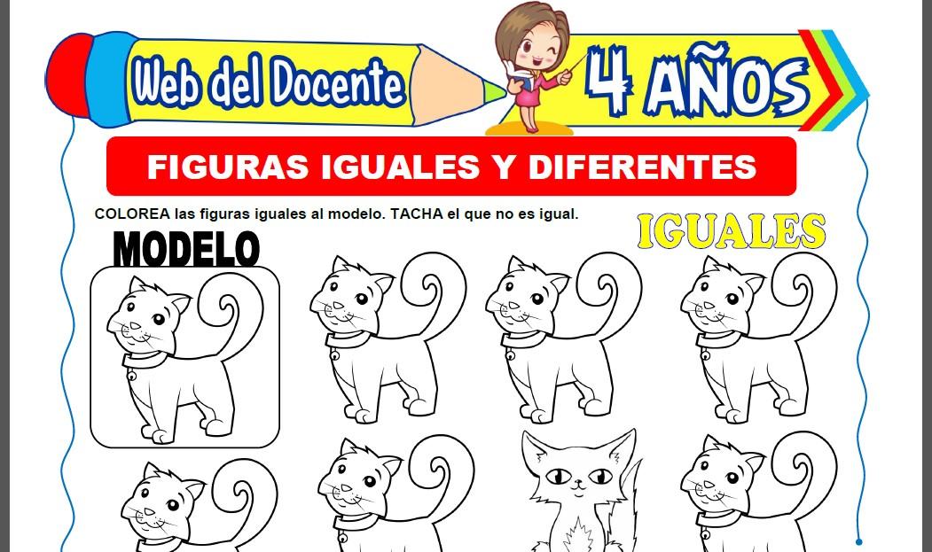 Figuras Iguales y Diferentes para Niños de 4 Años