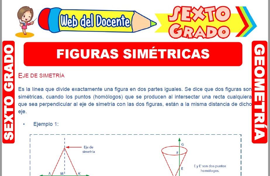 Muestra de la Ficha de Figuras Simétricas para Sexto Grado de Primaria