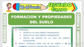 Ficha de Formación y Propiedades del Suelo para Segundo Grado de Primaria