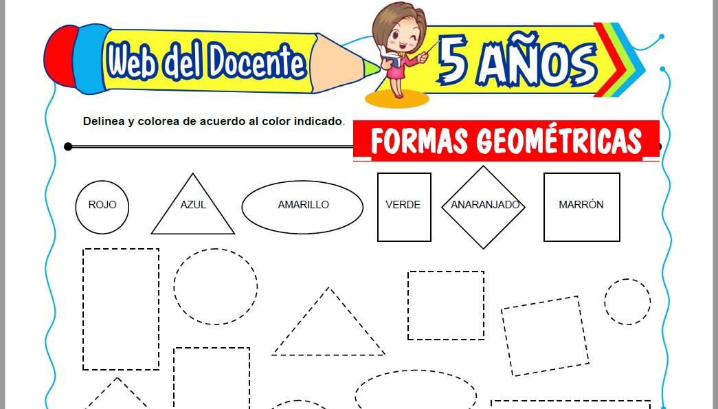 Muestra de la Ficha de Formas Geométricas para Niños de 5 Años