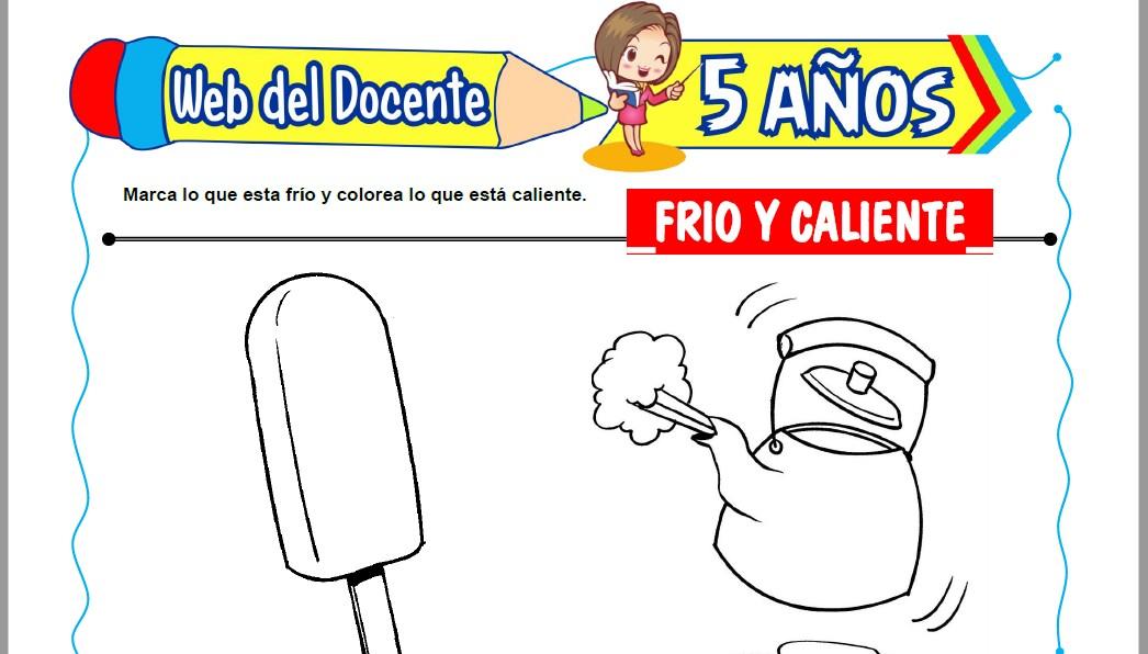 Muestra de la Ficha de Frio y Caliente para Niños de 5 Años