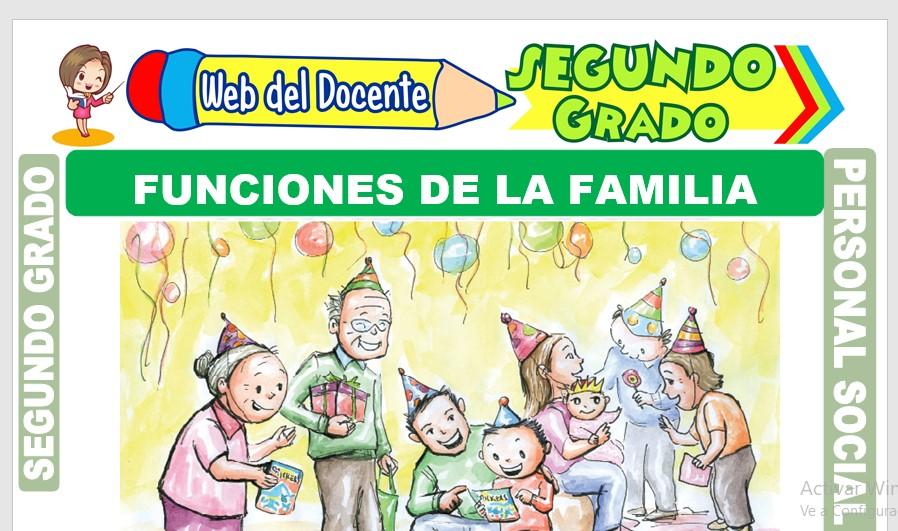 Ficha de Funciones de la Familia para Segundo Grado de Primaria