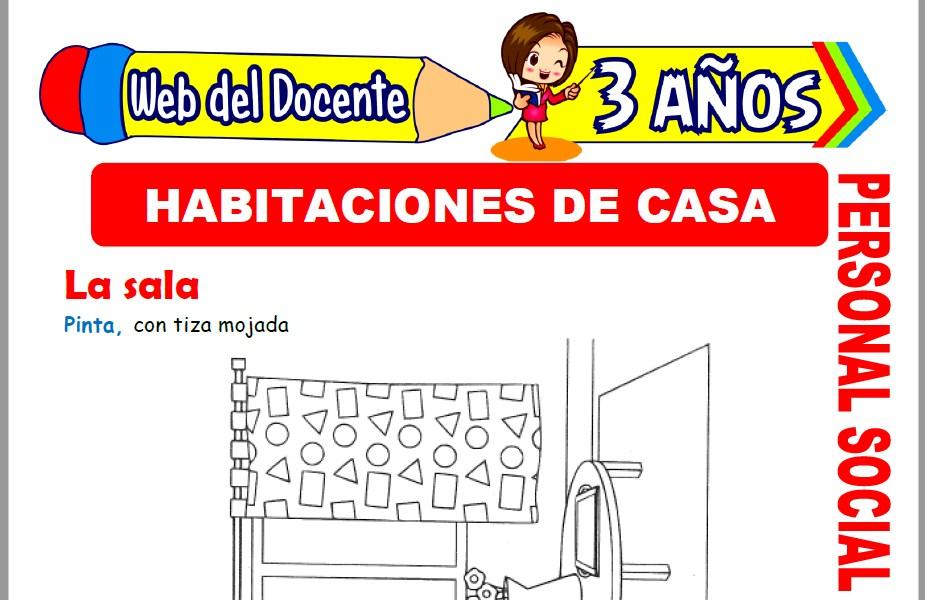 Muestra de la Ficha de Habitaciones de la Casa para Niños de 3 Años