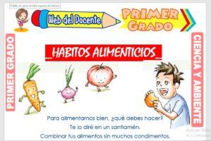 Ficha de Hábitos Alimenticios para Primer Grado de
