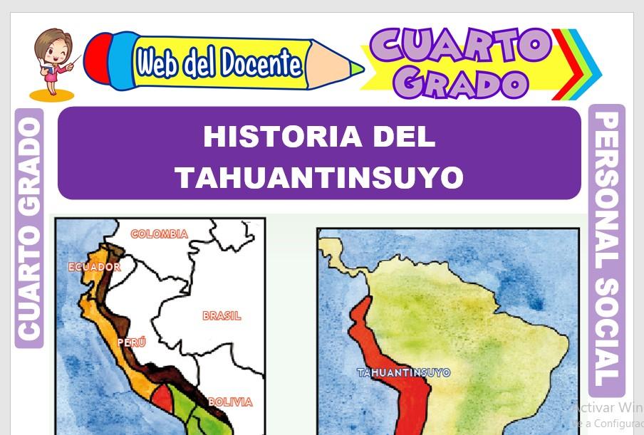 Ficha de Historia del Tahuantinsuyo para Cuarto Grado de Primaria