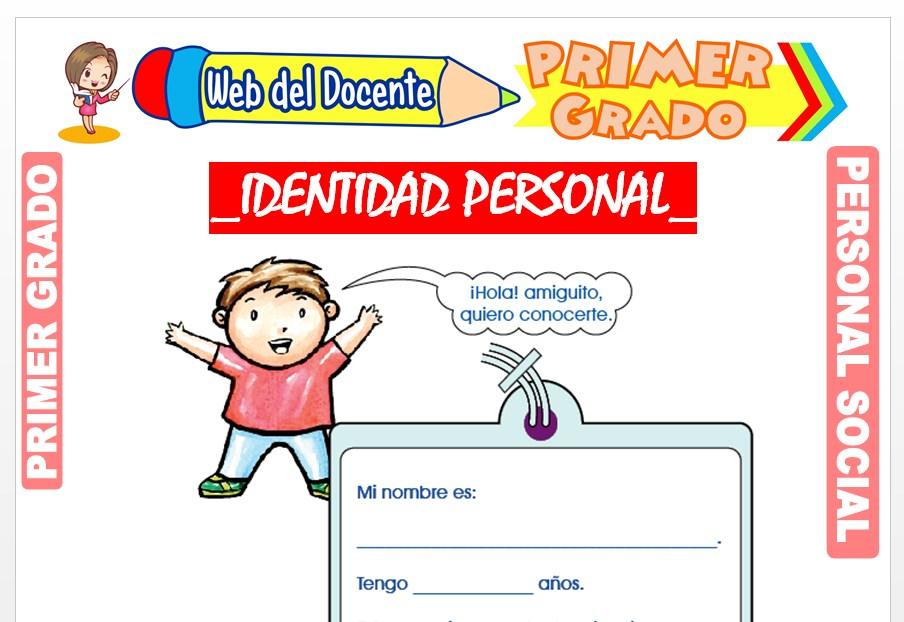 Ficha de Identidad Personal para Primer Grado de Primaria