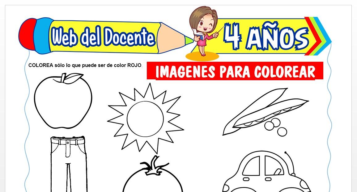 Ficha de Imágenes para Colorear para Niños de 4 AÑOS