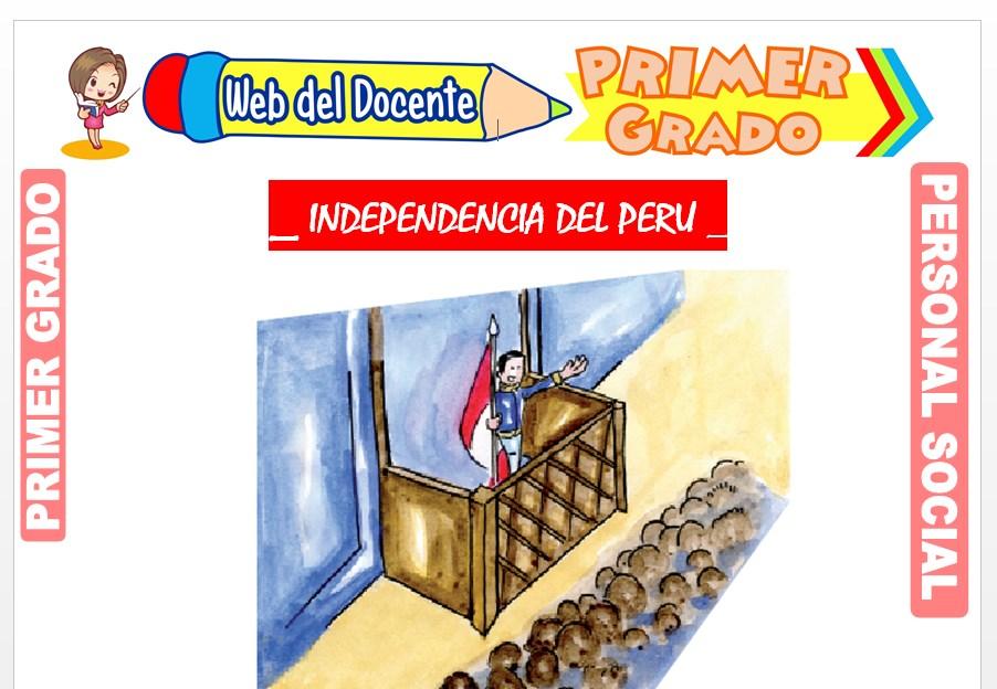Ficha de Independencia del Perú para Primero de Primaria