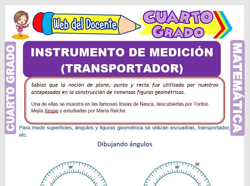 Instrumento de Medición para Cuarto Grado de Primaria