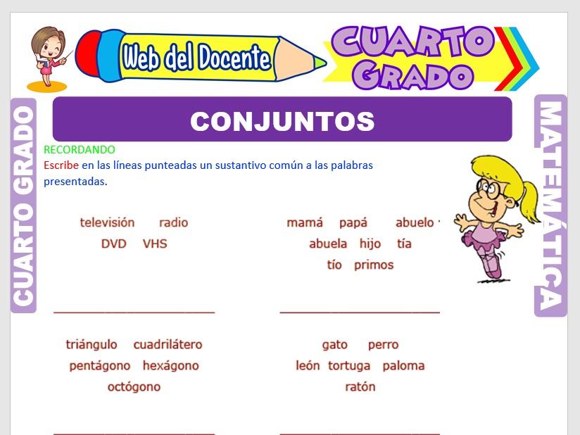 Ficha de Introducción a los Conjuntos para Cuarto Grado de Primaria