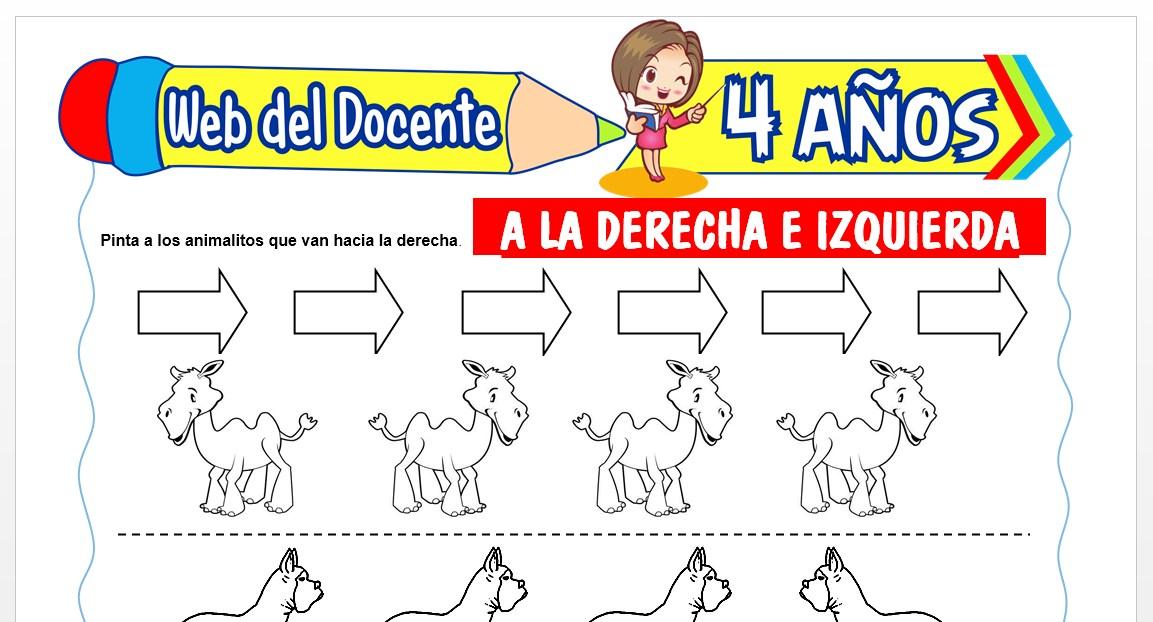 Ficha de Izquierda y Derecha para Niños de 4 AÑOS