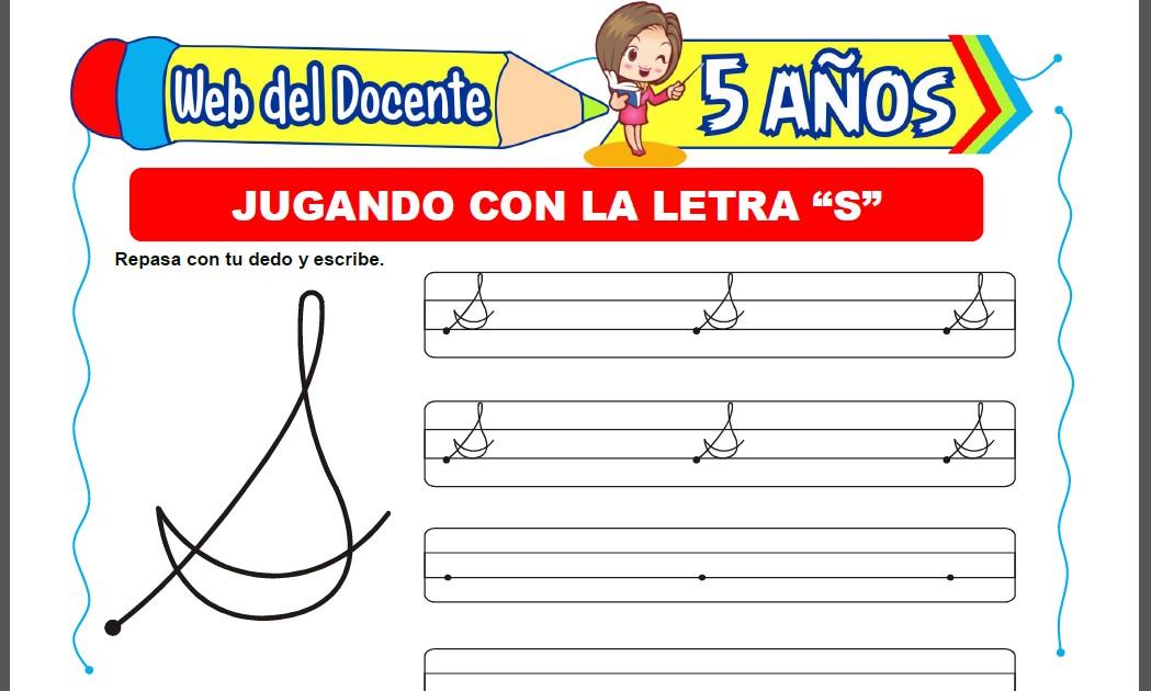 Jugando con la Letra S para Niños de 5 Años