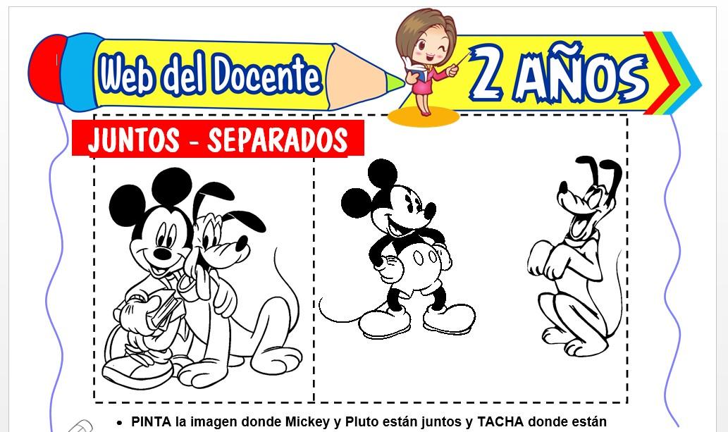 Ficha de Juntos y Separados para Niños de 2 Años