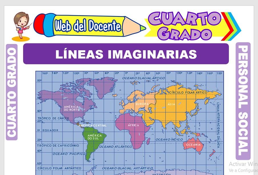 Ficha de Líneas Imaginarias para Cuarto Grado de Primaria