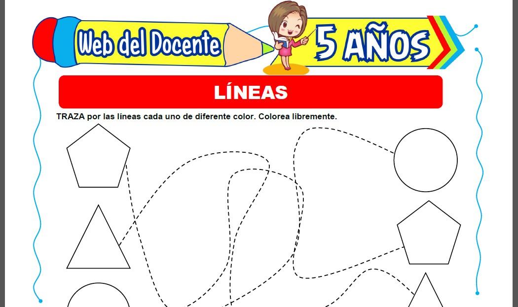 Líneas para Niños de 5 Años