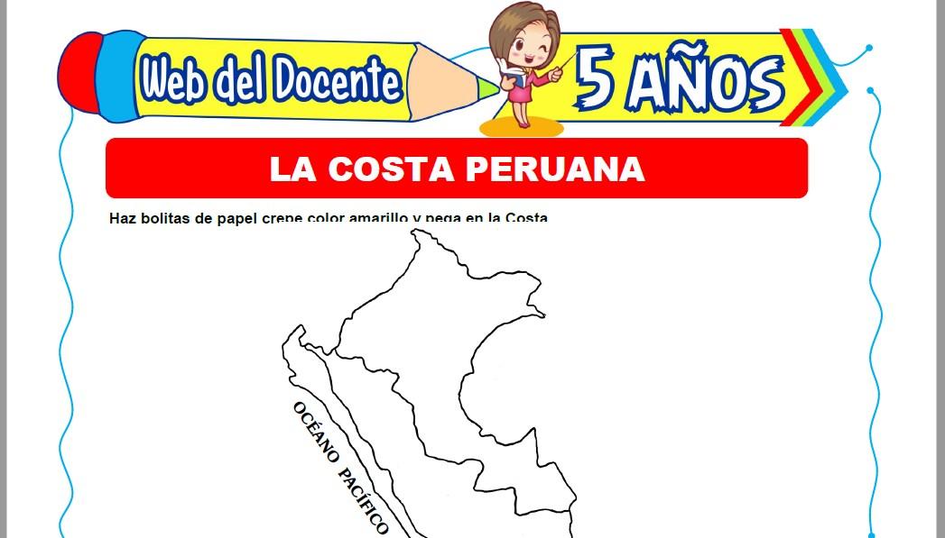 Muestra de la Ficha de La Costa Peruana para Niños de 5 Años