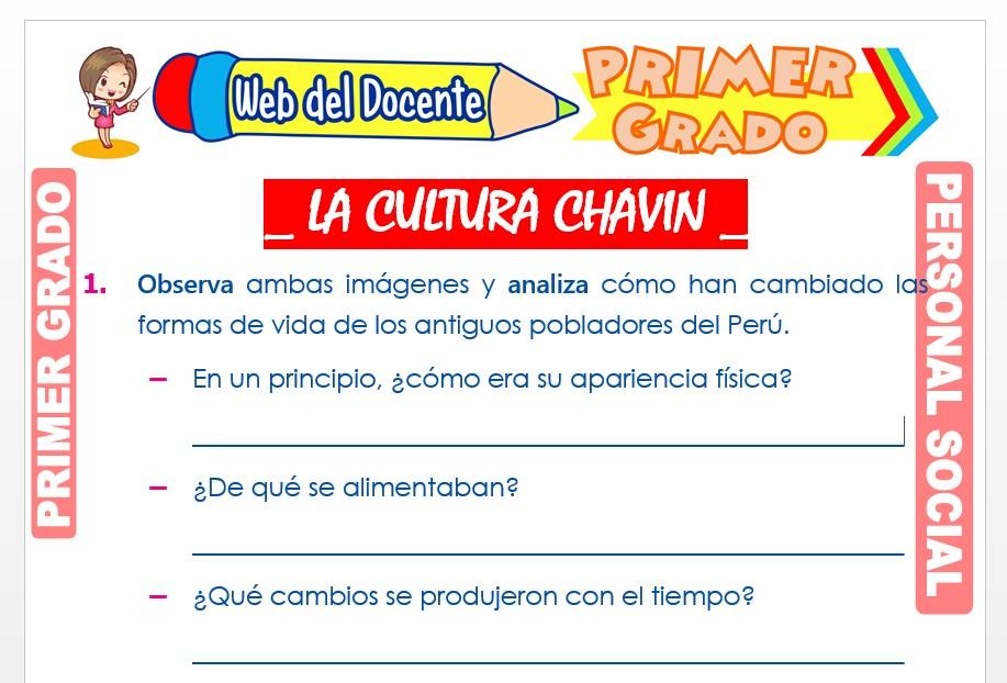 Ficha de La Cultura Chavín para Primer Grado de Primaria