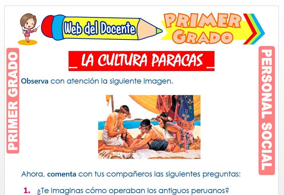 Ficha de La Cultura Paracas para Primer Grado de Primaria