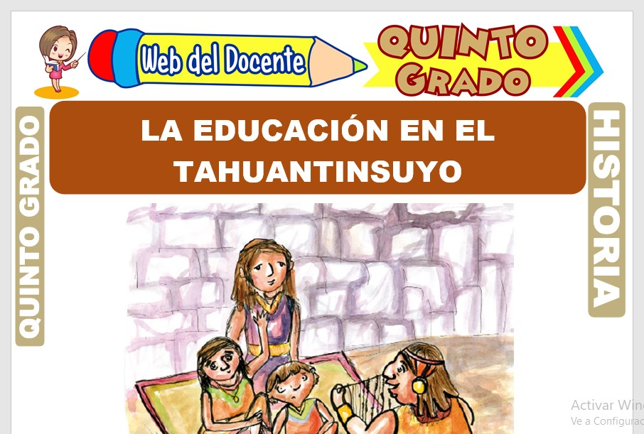Ficha de La Educación en el Tahuantinsuyo para Quinto Grado de Primaria